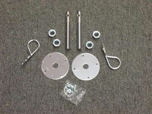 Picture of Chromed Steel Hood Pin Kit - Hairpin Style Release