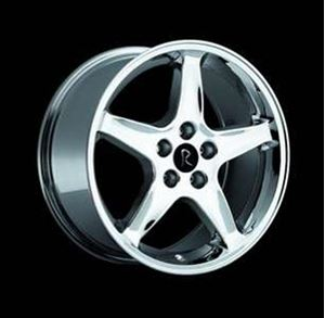 """Picture of ON BACK ORDER:  Cobra R 18 x 9"""" Chrome Wheels - 5 x 4.25"""""""