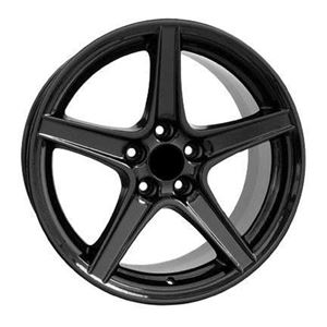 "Picture of Back Ordered:  Black Saleen Speedstar Wheel 18 x 9"" - 5 x 4.25"""